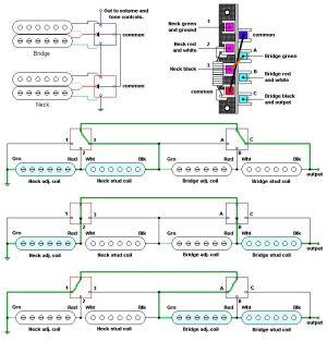 5way super switch schematic  Google Search | Guitar