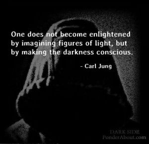 One does not bee enlightened by imagining figures of Light, but by making the darkness