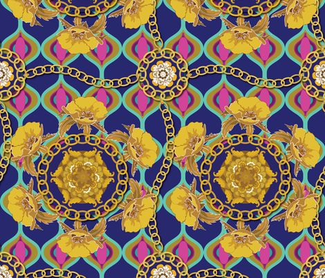 Homage To Versace Fabric By Shellypenko On Spoonflower