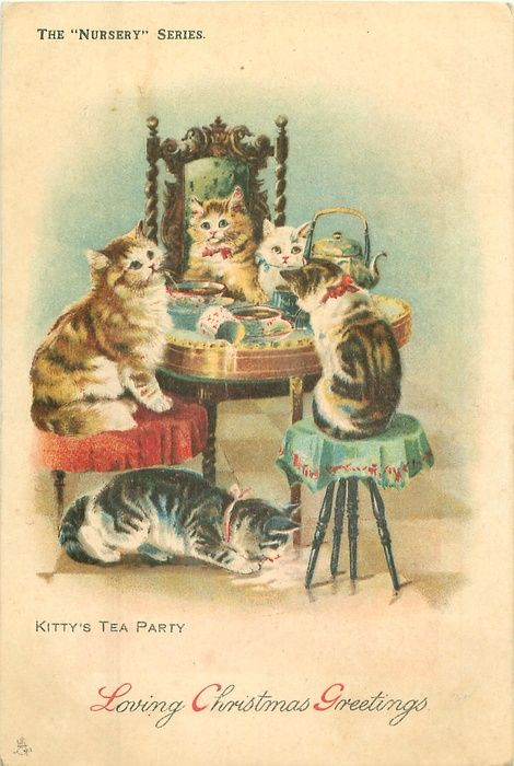 454 Best Images About Vintage Illustrations Cats On