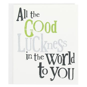bright side good luck card - Good Luck Quotes