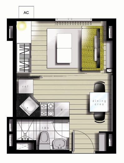 25sqm floor plan for studio about 270 square feet or on small modern home plans design for financial savings id=17944