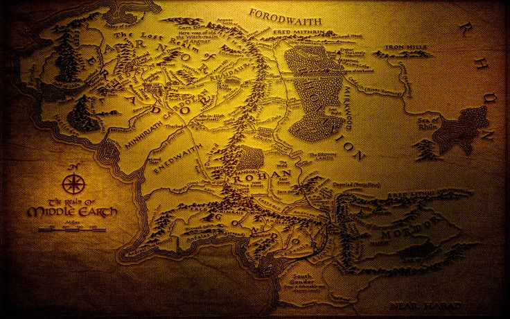 multicolor the lord of rings maps mordor jrr tolkien gondor