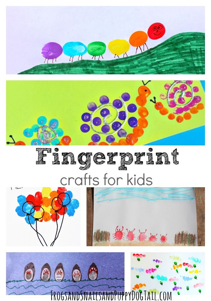 Fingerprint Crafts For Kids For Kids So Cute And Crafts