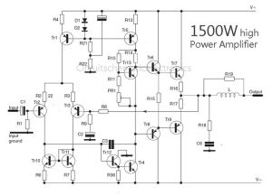 1500 Watt high power amplifier  Amp Circuit Diagram