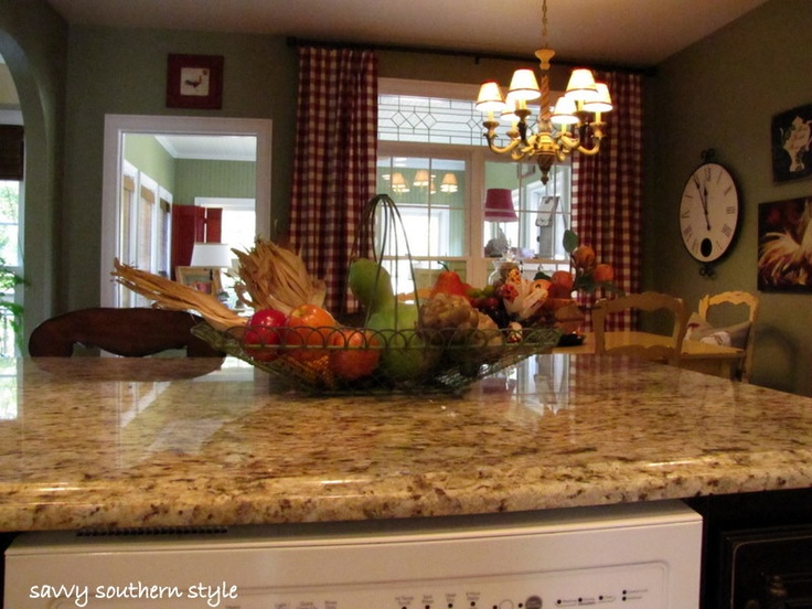 French Country Kitchen Love The Counter Tops The Wall