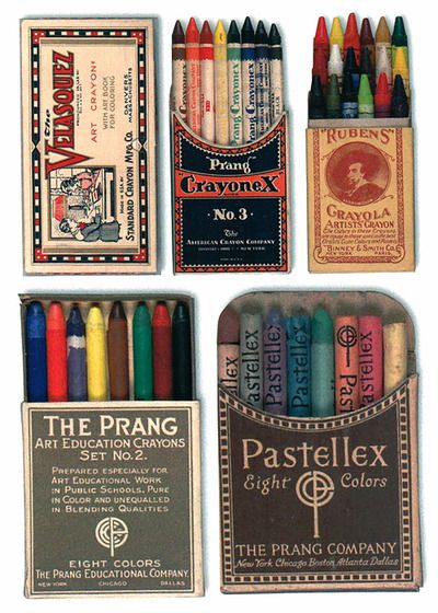 Vintage crayons….imagine them arranged in a shadow box or Nimbus case….cool.