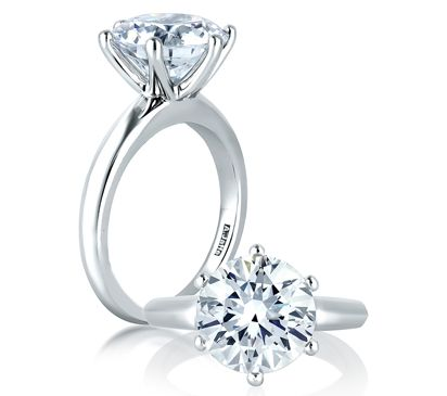 A Jaffe Classic 6 Prong Solitaire Engagement Ring