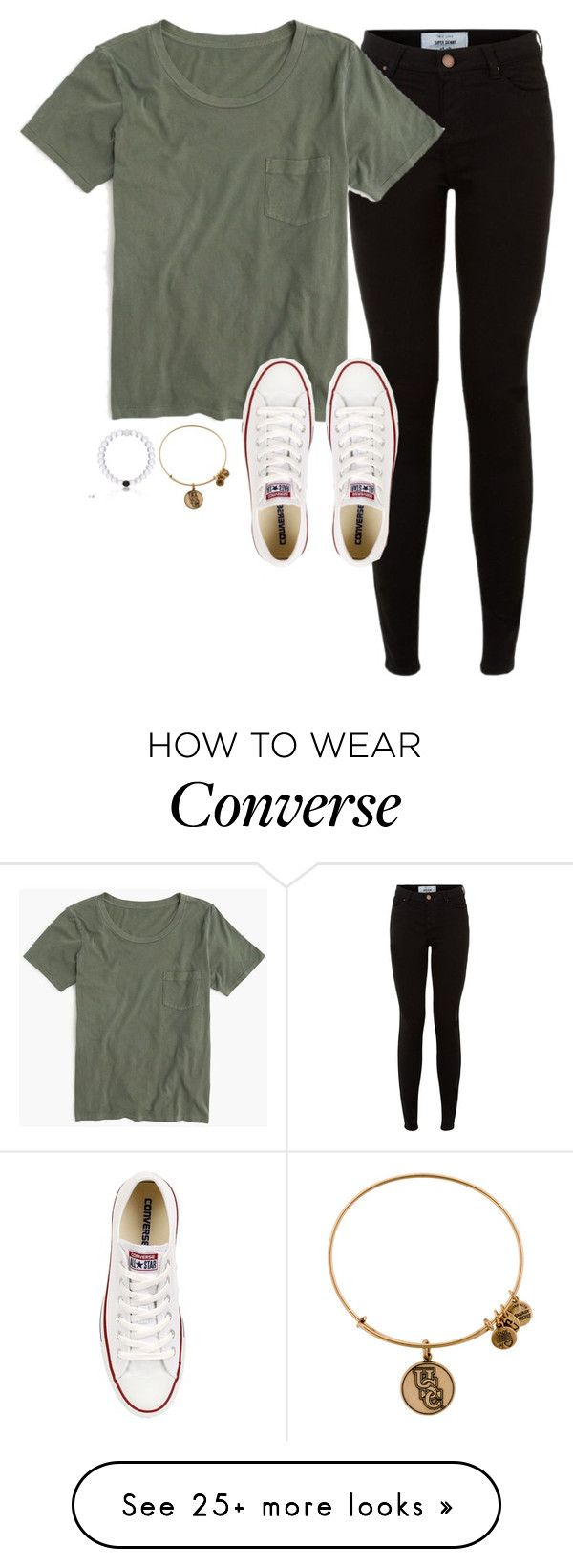 """""""Shawn Mendes Tomorrow"""" by lizzielane33 on Polyvore featuring J.Crew, Converse and Alex and Ani"""