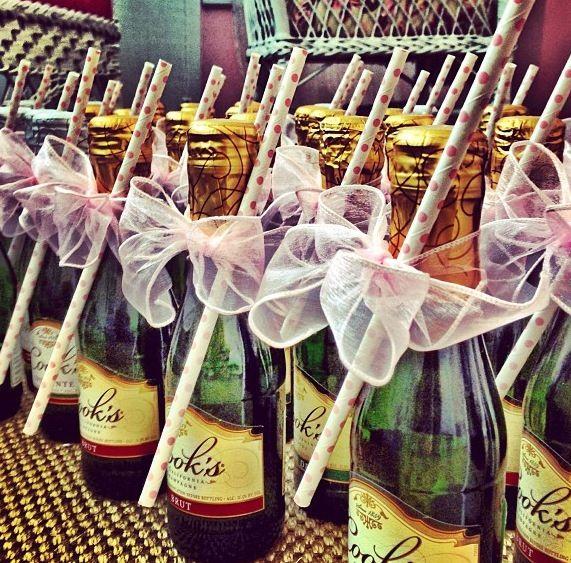 ADORABLE Bachelorette Mini Champagne Bottle W Straw