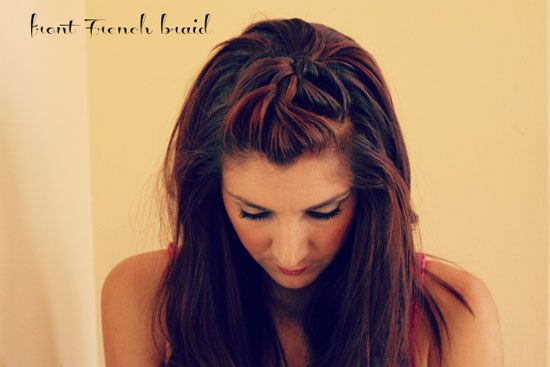 Front French Braid – 20 Pretty Styles for Short to Medium-Length Hair