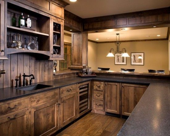 Rustic Kitchen Cabinets Design Wood