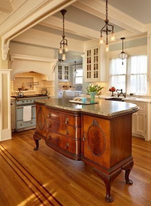 From Vintage Sideboard To Beautiful Kitchen Island ...