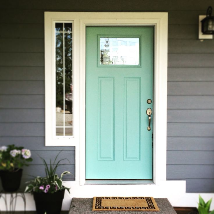 Perfect Accent Front Door Color Kentucky Bluegrass By
