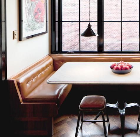 Camel Leather Banquette Want More Tufting And Less