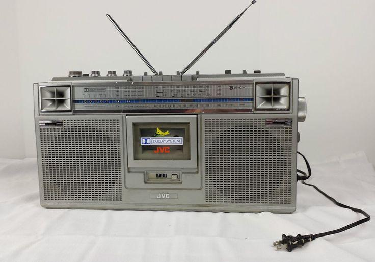 Jvc Boombox Ghetto Blaster Biphonic Vtg 80s Stereo Radio 4