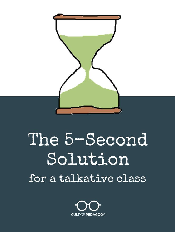 5-Second-Solution for a talkative class? YES PLEASE!