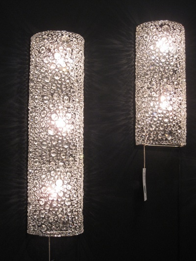 Crystal sconce lamps from Four Hands | Master Bath remodel ... on Crystal Bathroom Sconces id=94293