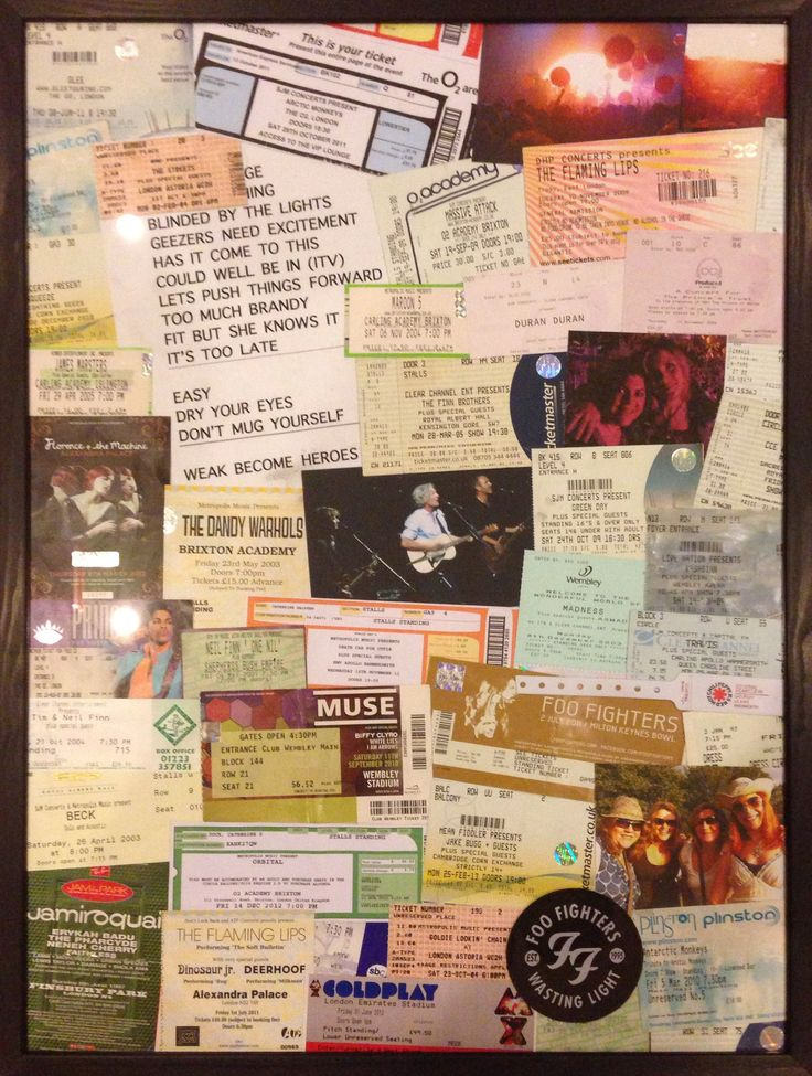 Best 25 Concert Ticket Display Ideas On Pinterest