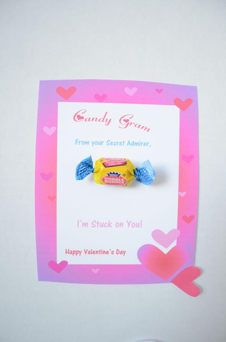 Valentines Day Bubblegum Candy Gram Valentines Day Ideas