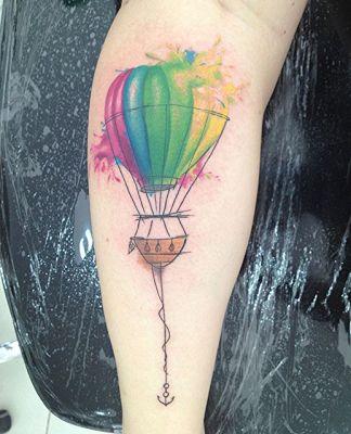 Tatuaggio mongolfiera