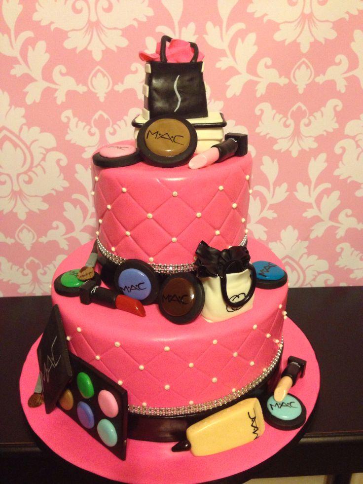 Mac Cosmetics Cake By Kristi S Cakery Cake Stuff And