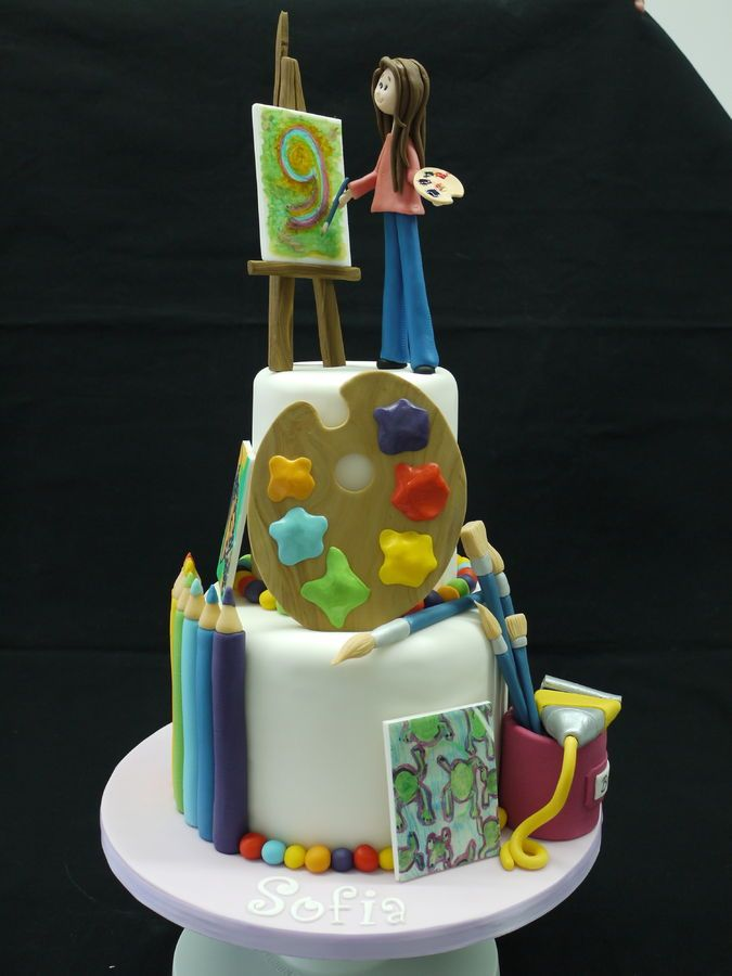 17 Best Images About Art Cakes On Pinterest Starry
