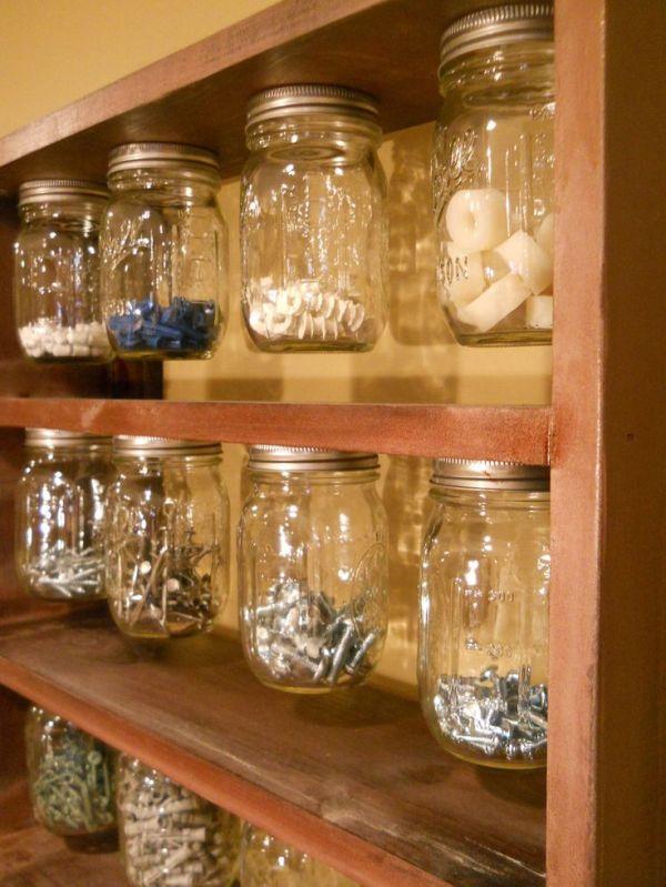 Mason Ball Jar Organizer | an organized life | Pinterest ...