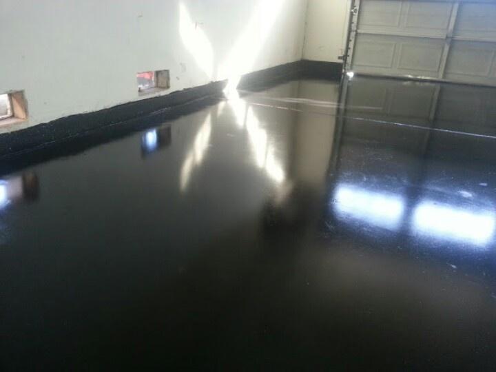 Garage Floor Polished Stained No Apoxie Garage Floor