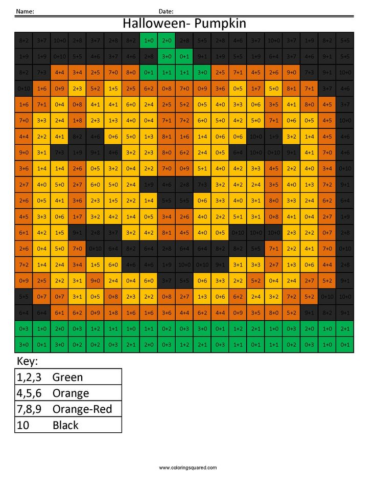 Halloween Pumpkin Holiday Addition Coloring Squared