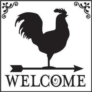 Download Home & Family- Primitive Welcome- Rooster Uppercase Living ...