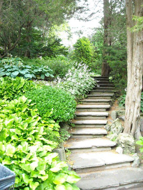 Hillside Stairway Plans - WoodWorking Projects & Plans on Uphill Backyard Ideas  id=64722