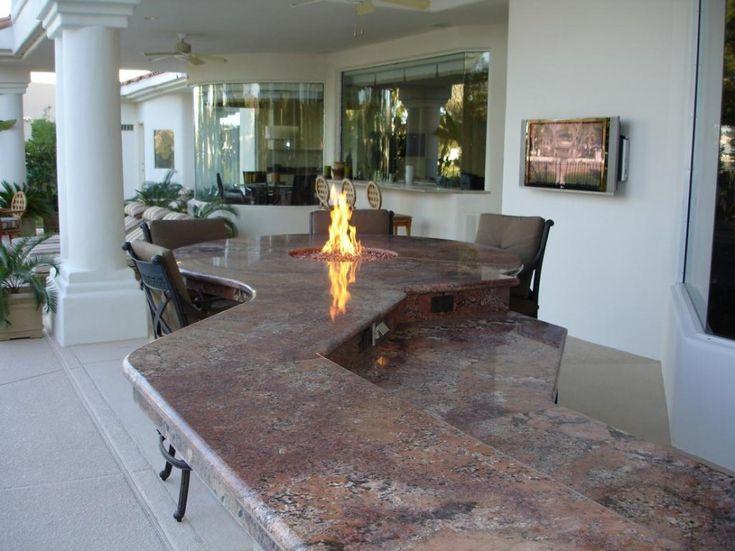 Stunning Outdoor Kitchen Las Vegas With Granite Outdoor