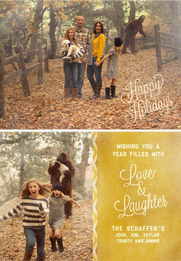 Sasquatch Christmas Card My Future Family WILL Have