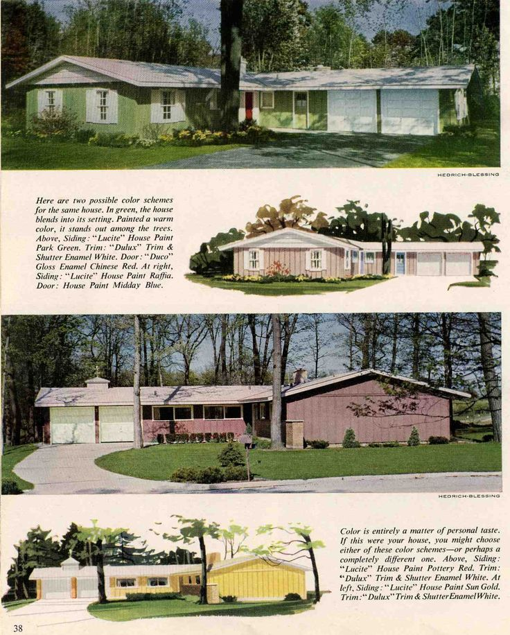 Exterior Colors For 1960 Houses Ranch Homes Exterior