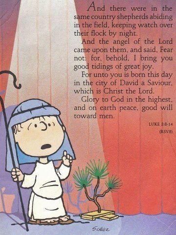Peanuts  Gang – Linus  teaches  us about our faith,  the true meaning of Christmas.  In A Charlie Brown Christmas.