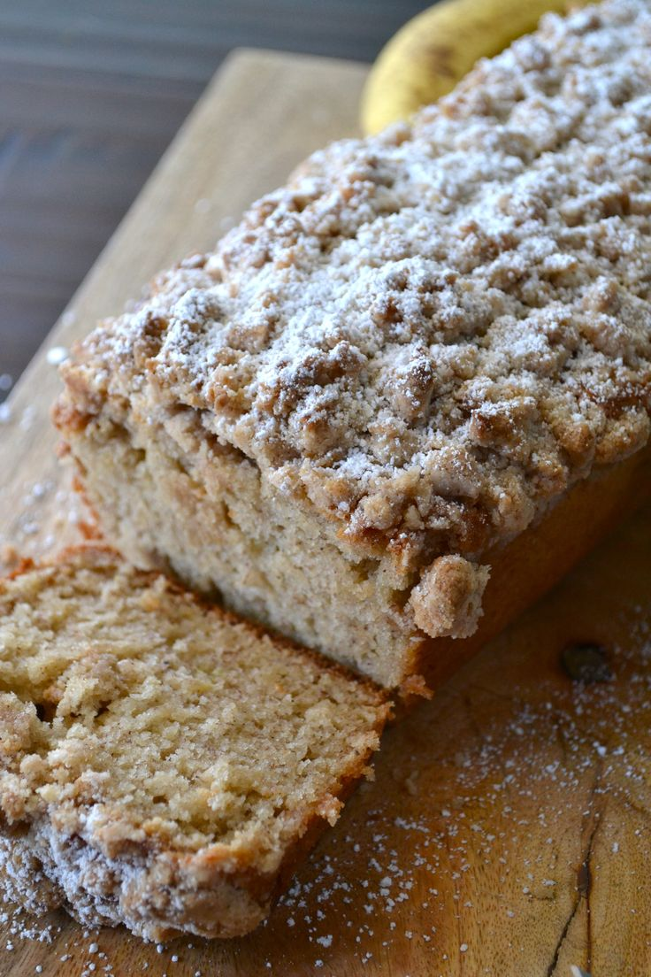 This Cinnamon Crumb Banana Bread is the perfect combination of moist banana bread and a crumbly coffee cake topping. It is a crowd