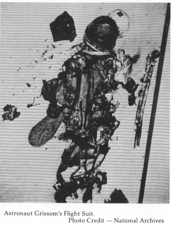 Astronaut Gus Grissom's space suit after the tragic Apollo ...