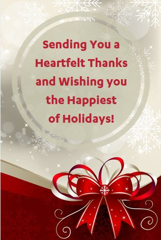 Business Thank You Messages Examples For Christmas
