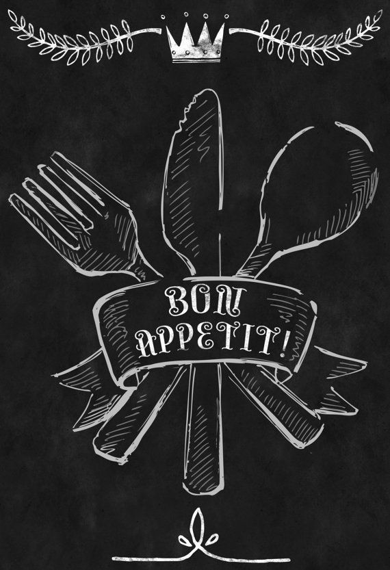Chalkboard Kitchen Menu Food Meal Dish Cook Knife Fork Spoon Chef Silverware Cutlery Cooking
