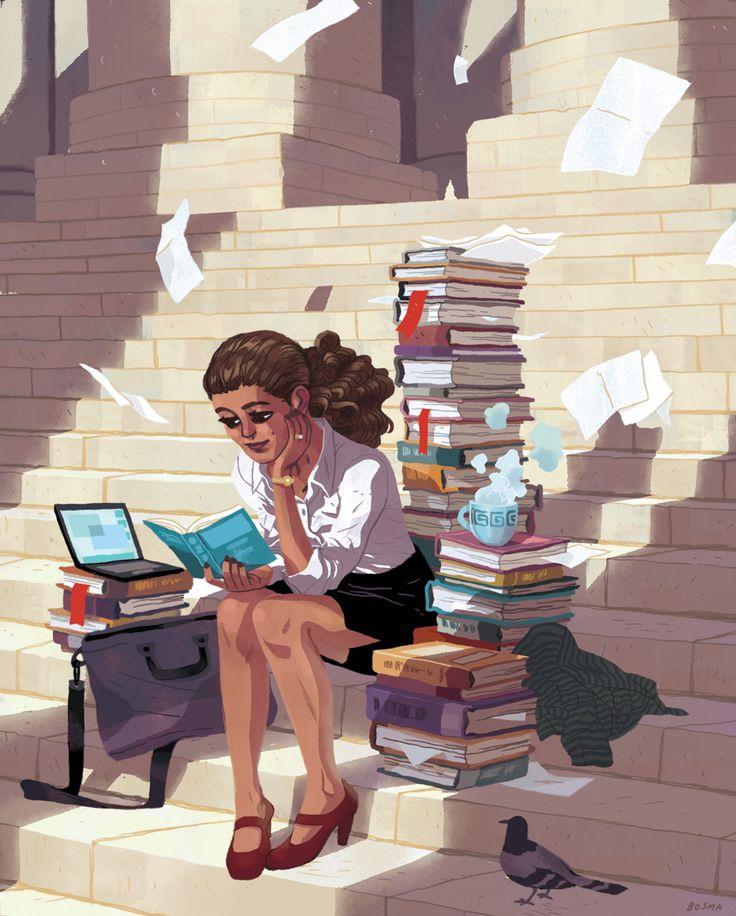 Sam Bosma Lawyer Magazine Girl Illustration Pinterest Lawyer