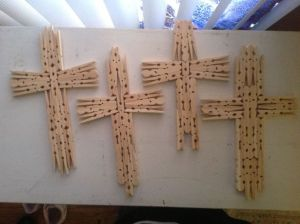 Clothes pin crosses | DIY | Pinterest | Clothes, Diy