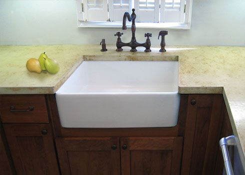 Concrete Countertops With Undermount Apron Sink I Love