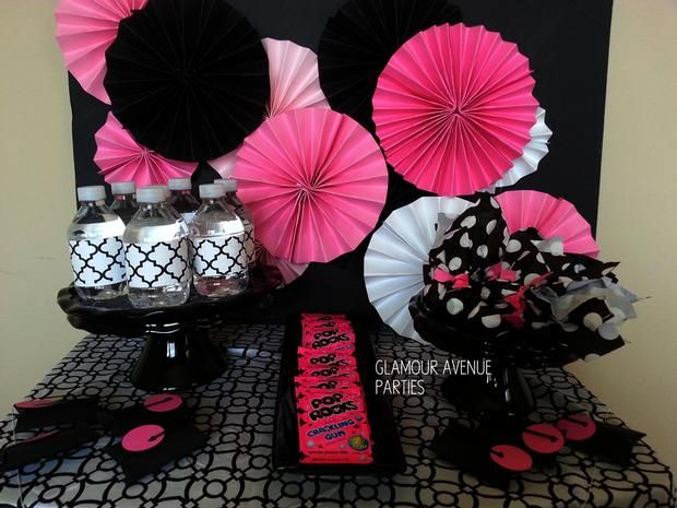 Pink Black And White Tween Spa