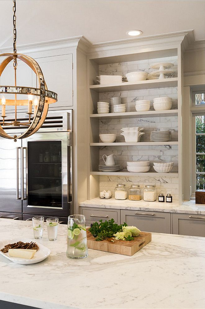 403 best kitchens gray black other images on pinterest on kitchen shelves instead of cabinets id=37429