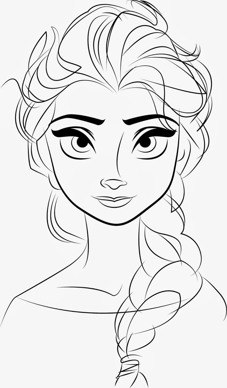 Frozen Coloring Pages Easy Abstract