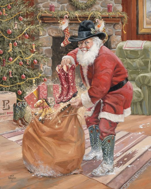 228 Best Images About Cowboy Santas On Pinterest Red