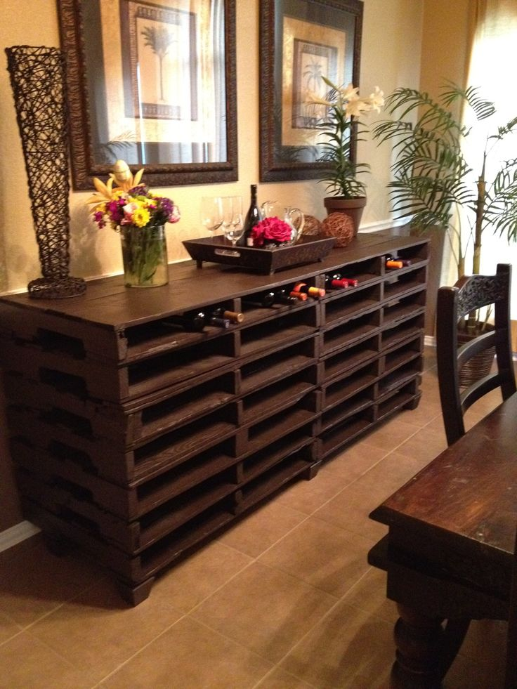 Buffet Table We Made From Free Pallets Ideas For A Home