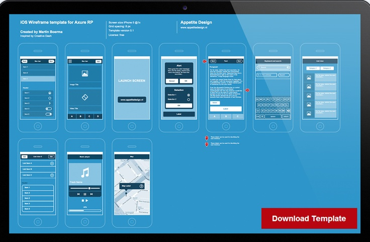 Axure Iphone Template UX Pinterest IPhone And Templates