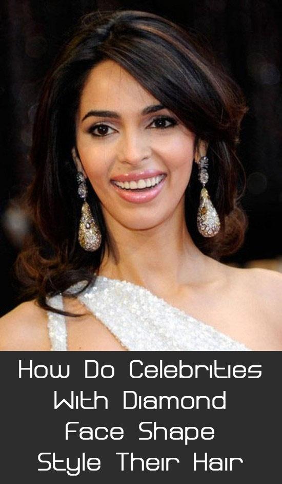 How Do Celebrities With Diamond Face Shape Style Their